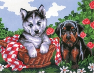 Collection D' Art Needlepoint/Tapestry Kit – Doggie Friends