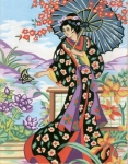 Collection D' Art Needlepoint/Tapestry Kit – Japanese Lady