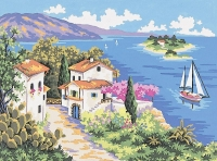 Collection D' Art Printed Tapestry/Needlepoint  – A Summers Day