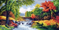 Collection D' Art Printed Tapestry/Needlepoint – Autumn Time