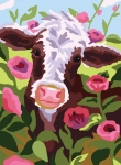 Collection D' Art Printed Tapestry/Needlepoint – Colourful Cow