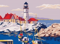 Collection D' Art Printed Tapestry/Needlepoint – Lighthouse
