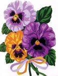 Collection D' Art Printed Tapestry/Needlepoint – Pansy Bouquet