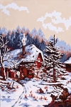 Collection D' Art Printed Tapestry/Needlepoint – Snow Scene