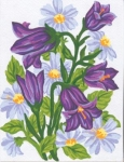 Collection D' Art Printed Tapestry/Needlepoint Kit – Bluebells