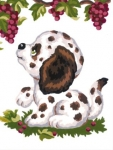 Collection D' Art Printed Tapestry/Needlepoint Kit – Dalmation Puppy