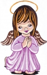 Collection D' Art Printed Tapestry/Needlepoint Kit – Girl Angel Praying