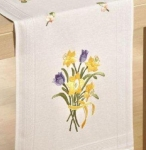Deco-Line Freestyle Embroidery Runner Kit - Daffodils & Tulips