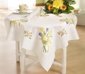 Deco-Line Freestyle Embroidery Tablecloth Kit - Daffodils & Tulips