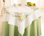 Deco-Line Freestyle Embroidery Tablecloth Kit - Panies