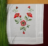 Deco-Line Freestyle Embroidery Tablecloth Kit - Poppies