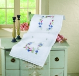 Deco-Line Freestyle Embroidery Tableware Kit - Cornflowers