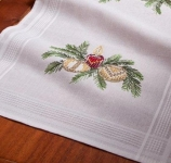 Deco-Line Mixed Stitches Runner Kit - Christmas Candles & Baubles