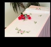 Deco-Line Printed Cross Stitch Runner Kit - Pink Roses