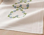 Deco-Line Printed Embroidery Runner Kit - Blue Cornflowers
