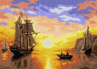 Deco-Line Printed Tapestry/Needlepoint Canvas – A Sunset Calm in the Bay of Fundy