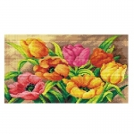 Deco-Line Printed Tapestry/Needlepoint – Colourful Tulips