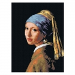 Deco-Line Printed Tapestry/Needlepoint – Girl with the Pearl Earring, after Jan Vermeer