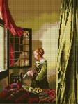 Deco-Line Printed Tapestry/Needlepoint – Lady Reading a Letter