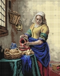 Deco-Line Printed Tapestry/Needlepoint – Milkmaid, after Joban Vermeer