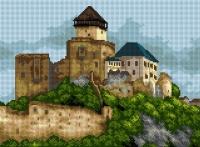 Deco-Line Printed Tapestry/Needlepoint – The Trenčín Castle, Slovakia