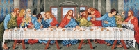 Deco-Line Printed Tapestry/Needlepoint Canvas – The Last Supper, after Leonardo da Vinci