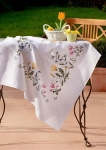 Deco-Line Stamped Cross Stitch Tablecloth Kit - Bluebells & Dandelions