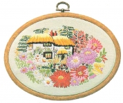 Design Perfection Freestyle Embroidery Kit - Aster Cottage