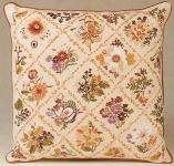 Design Perfection Freestyle Embroidery Kit - Autumn Trellis Cushion