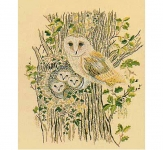 Design Perfection Freestyle Embroidery Kit - Barn Owls