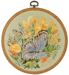 Design Perfection Freestyle Embroidery Kit - Common Blue Butterfly