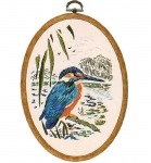 Design Perfection Freestyle Embroidery Kit - Kingfisher