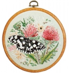 Design Perfection Freestyle Embroidery Kit - Marbled White Butterfly