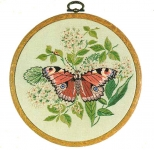 Design Perfection Freestyle Embroidery Kit - Peacock Butterfly