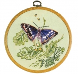 Design Perfection Freestyle Embroidery Kit - Purple Emperor Butterfly