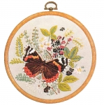 Design Perfection Freestyle Embroidery Kit - Red Admiral Butterfly
