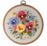 Design Perfection Freestyle Embroidery Kits - Floral Rounds 2