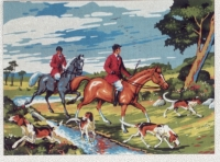Diamant Printed Tapestry/Needlepoint - The Hunt
