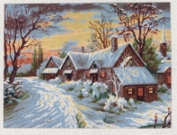 Diamant Printed Tapestry/Needlepoint - Winter Cottage