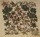 Fully Worked Needlepoint Canvas Set – Medieval Hunting Scenes