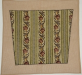 Fully Worked Needlepoint Kit – Striped Floral Chair Seat design - Set of 4