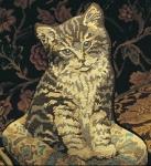 Glorafilia Needlepoint/Tapestry Kit - Kitten on a Cushion