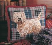 Glorafilia Needlepoint/Tapestry Kit - Tartan Westie