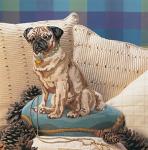 Glorafilia Needlepoint/Tapestry Kit - Turquoise Pug Dog