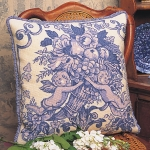 Glorafilia Tapestry/Needlepoint Kit - Toile De Jouy (Blue)