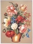 Gobelin L  Printed Tapestry Canvas - Vase of Roses