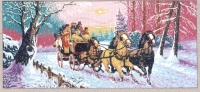 Gobelin L  Printed Tapestry/Needlepoint - The Mail Coach
