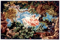 Gobelin L Printed Tapestry?Needlepoint - Girl on a Swing