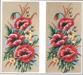 Gobelin L Printed Tapestry/Needlepoint - Poppies
