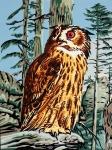 Gobelin L Tapestry/Needlepoint - Owl on Watch